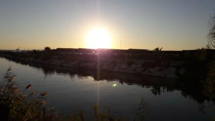 Gegen Abend ein wunderbarer Sonnenuntergang - Neumanns Park Restaurant