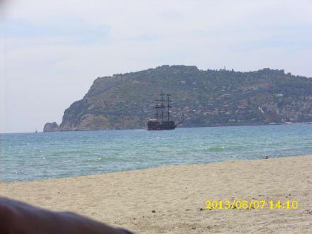 Von Hotel Strand auf die Brug von Alanya - Strand Keykubat