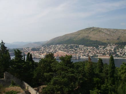 Blick von Lokrum auf Dubrovnik - Insel Lokrum