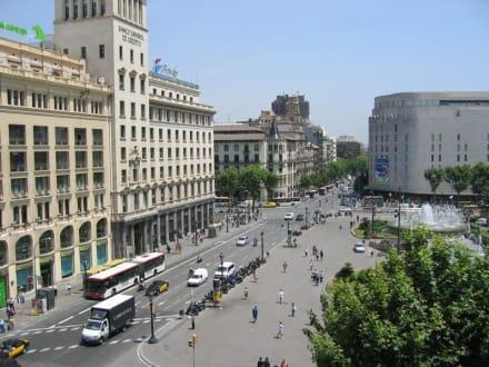 Hotel Catalunya Plaza - Blick aus dem Zimmer über den Placa - Platz von Katalonien