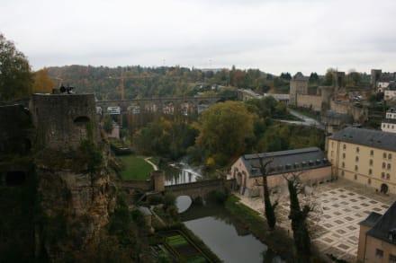 Blick über die Alzette - Bock-Kasematten