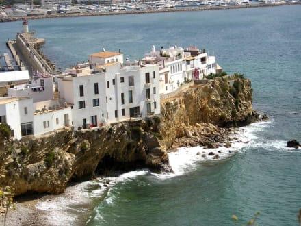 Felsklippe mit Häusern Ibiza Stadt - Altstadt Dalt Vila Ibiza