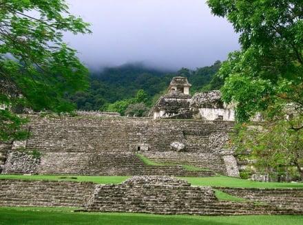 Tempelanlage - Maya Pyramiden Palenque