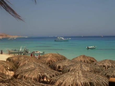 Ausblick aus dem Restaurant - Giftun / Mahmya Inseln