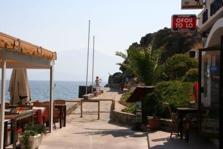 Spaziergang am Wasser in A. Nikolaos - Strandpromenade Agios Nikolaos