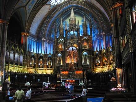 In der Basilique Notre Dame Montreal - Vieux Montreal