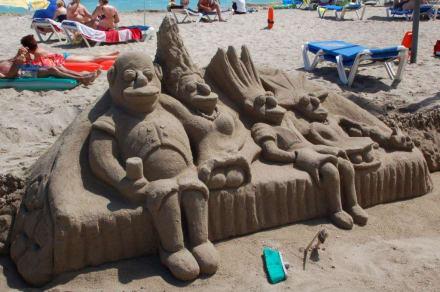 Zu Gast bei den Simpsons - Strand Can Picafort