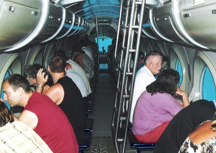 Im Sindbad Touristen-U-Boot - Sindbad Submarine