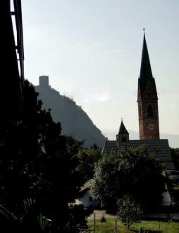 Blick vom Balkon nach Terlan - Hotel Weingarten