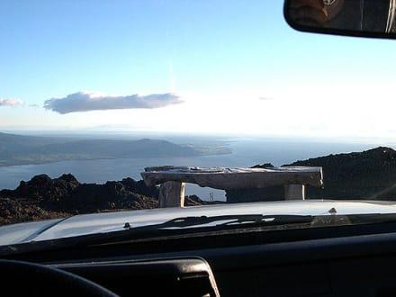 Blick vom Osorno auf den Llago Llanquihue - Llago Llanquihue