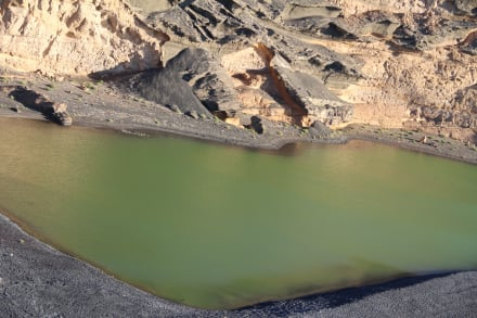 Die Grüne Lagune  - El Golfo. Ein ideales Ziel mit dem PKW - Charco de los Clicos / Grüner See