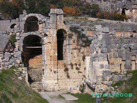 Eingang zu den Felsengräber - Lykische Felsengräber von Fethiye