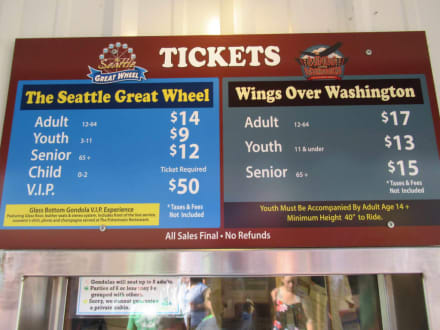 Preise Fürs Riesenrad Bild The Seattle Great Wheel In Seattle