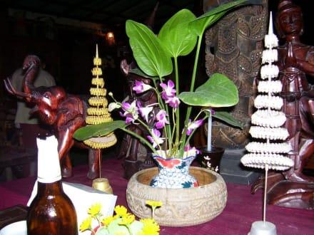Liebevolle Dekoration - Takieang Restaurant