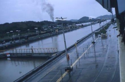 Blick in Richtung Pazifik bzw. Panama City - Panamakanal