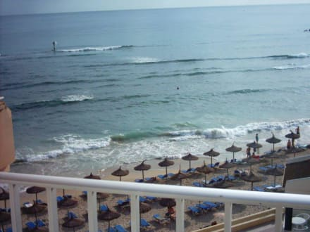 Blick vom Balkon Gran Bahia- Can Picafort - Strand Can Picafort