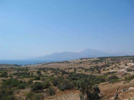 Blick von der Terrasse Richtung Küste - Taverne Geogos