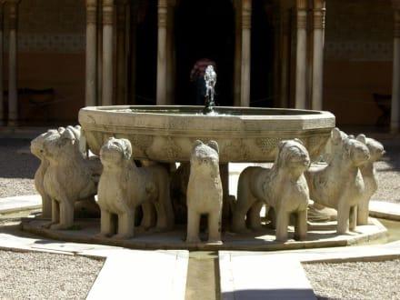 Löwenhof im Innern des Nasridenpalastes - Alhambra
