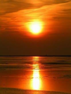 Sonnenuntergang am Strand von St. Peter Ording - Strand St. Peter Ording