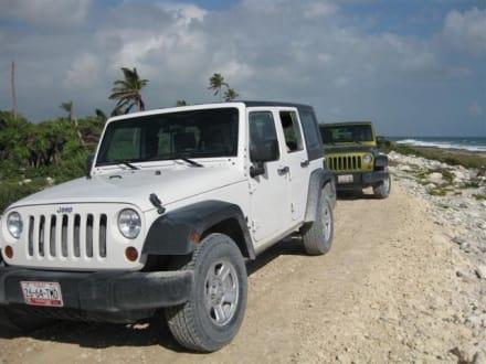 Mit dem Jeep durch den Dschungel - Sian Ka'an