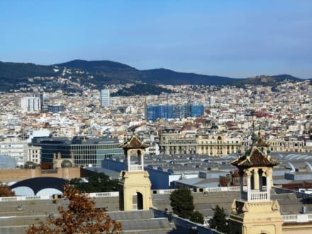 Blick vom Olympiapark auf Barcelona - Olympiapark Barcelona