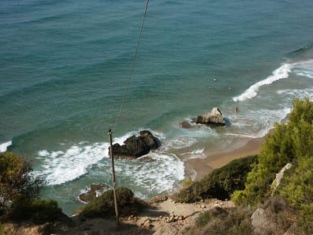 Auf dem Weg zum Beach - Strand Mirtiotissa