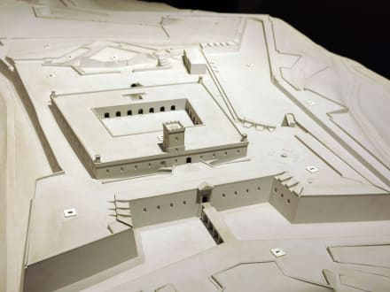 Ein Modell der Festung - Castell de Montjuïc