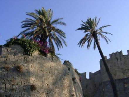 Alte Stadtmauer - Altstadt Rhodos Stadt