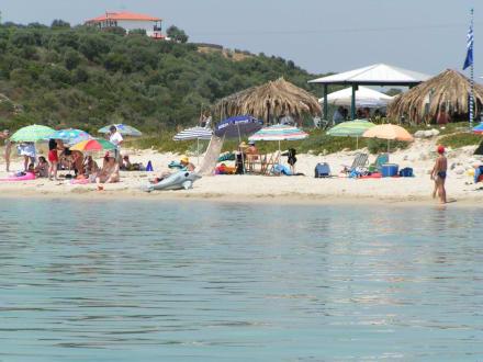 Der schönste Strand auf Amouliani - Strand Alikes
