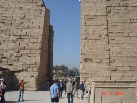 Der erste Pilon vom Karnaktempel - Amonstempel Karnak
