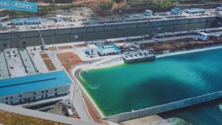 Neue Schleusen in Agua Clara - Panamakanal