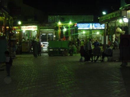 Assuan Basar am Abend - Bazar von Assuan