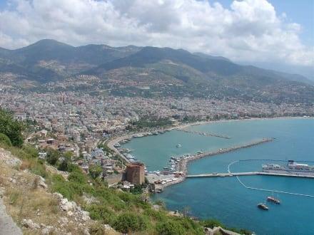 Blick auf den Hafen Alanya - Hafen Alanya