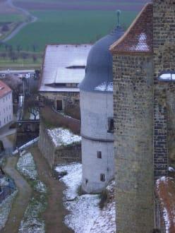 Blick vom Turm - Burgruine Stolpen