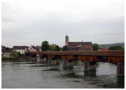 Rheinbrücke Bad Säckingen - Holzbrücke
