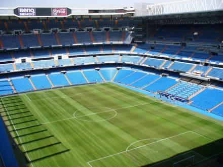 Im Stadion - Santiago-Bernabéu-Stadion