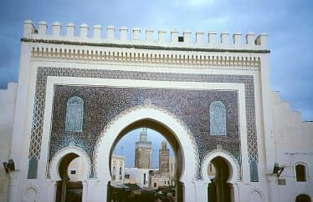 Fes - Blaue Tor - Blaues Tor Bab Bou Jeloud