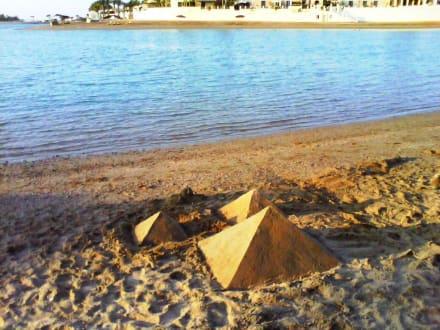 Enjoy your day on the lagoon beach -