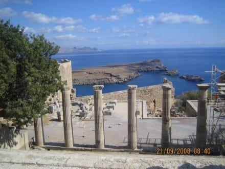 Lindos-Aktropolis Säulen - Akropolis von Lindos