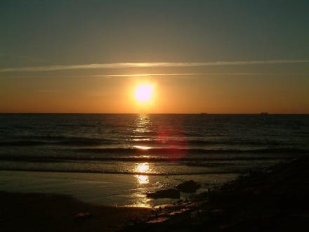 Sonnenuntergang an der Belgischen Küste - Strand De Haan