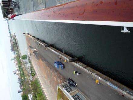 MS Columbus am Anlegen in Kopenhagen 2010 - MS Hamburg