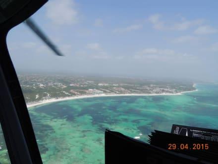 Das ist Karibik pur - Helikopter-Rundflug Punta Cana