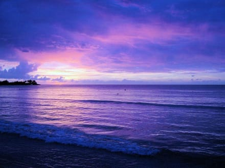 Sonnenuntergangfinale - Strand Negril