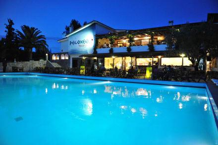 Pool Bar at night -