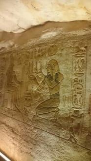 Im Tempel von Abu Simbel - Tempel von Abu Simbel