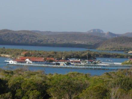 Ausblick hinter dem Hotel - Delphinarium Playa Esmeralda