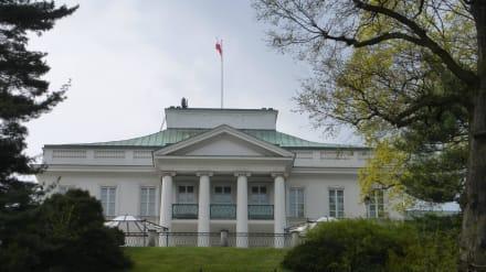 Der Belvedere-Palast (Belweder) - Lazienki Park / Park der Bäder