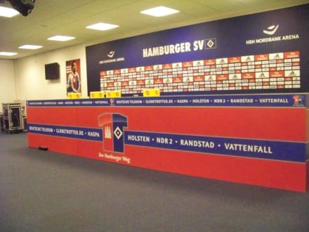 Bühne für Presseversammlungen - Volksparkstadion