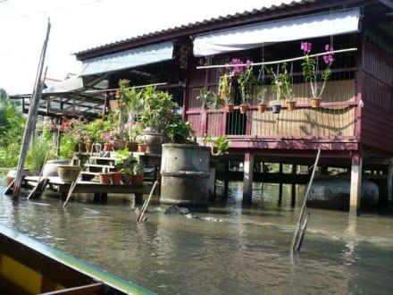 Wohnhaus am Fluß - Schwimmende Märkte / Floating Market / Damnoen Saduak