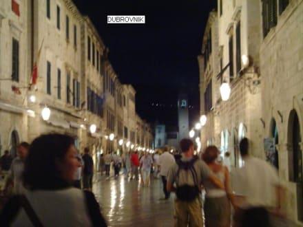 die Altstadt bei Nacht - Altstadt Dubrovnik